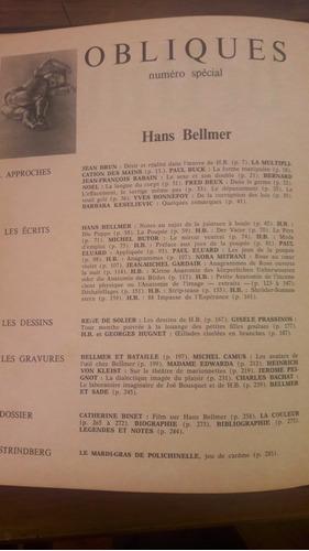 bellmer  revista obliques número especial edit. borderie
