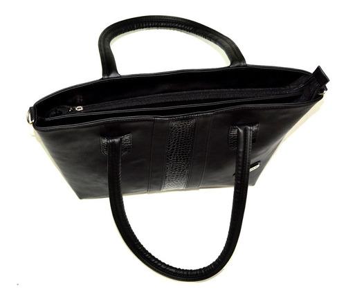 bello bolso cartera 2 compartimientos cruzado le sak negro