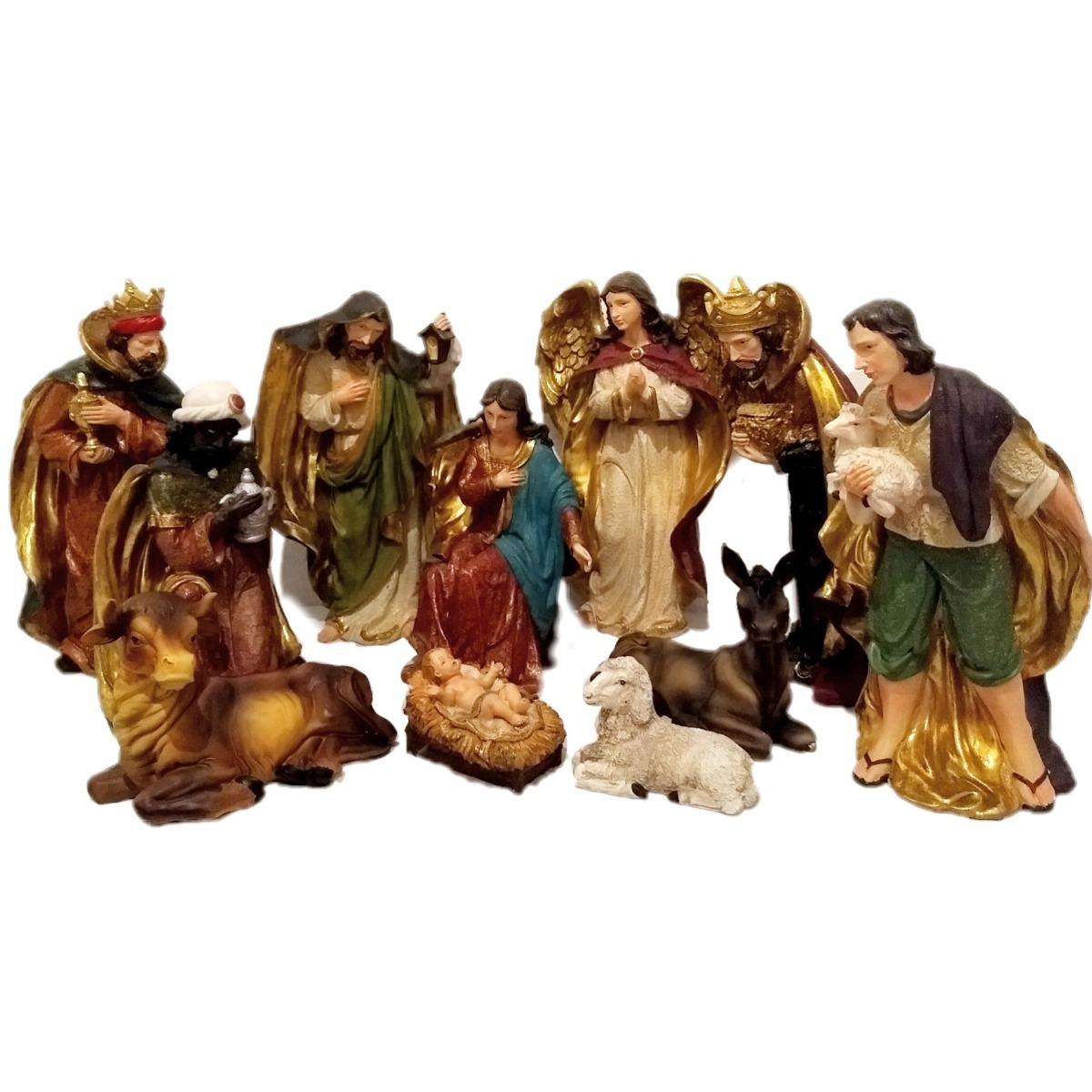 258c2fa00ce Bello nacimiento grande en fina resina decoración navidad cargando zoom jpg  1200x1200 Navidad grande decoraciones de