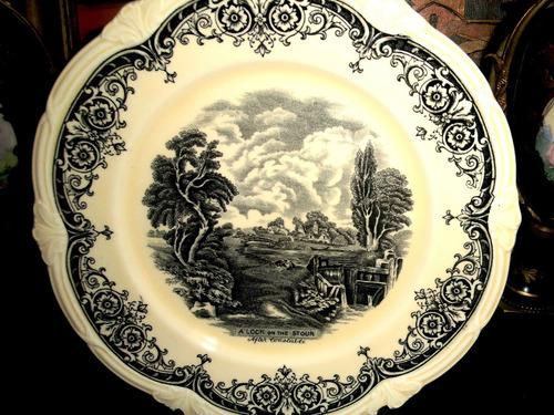 bello plato porcelana inglesa grindley after constable