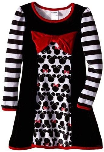 bello vestido de disney minnie de gamuza talla 6