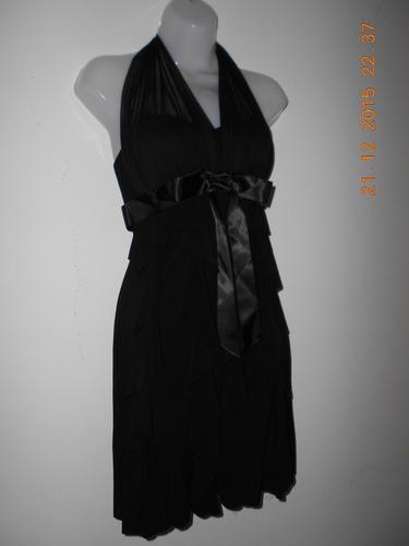 bello vestido de fiesta negro talla xs marxa betsy & adam
