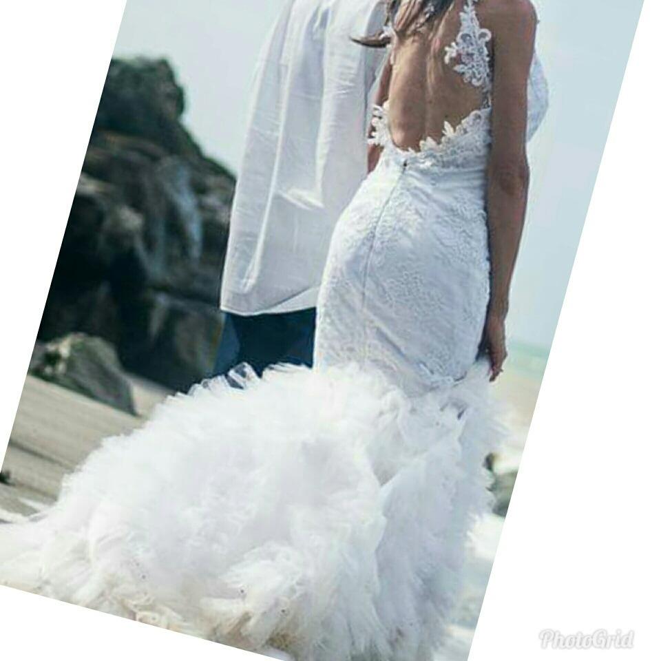 Bello Vestido De Novia Sirena + Velo + Tacones - Bs. 60.000.000,00 ...
