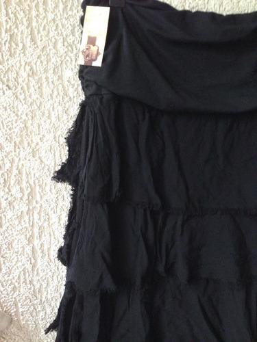 bello vestido strapless tipo umbrale talla u nuevo