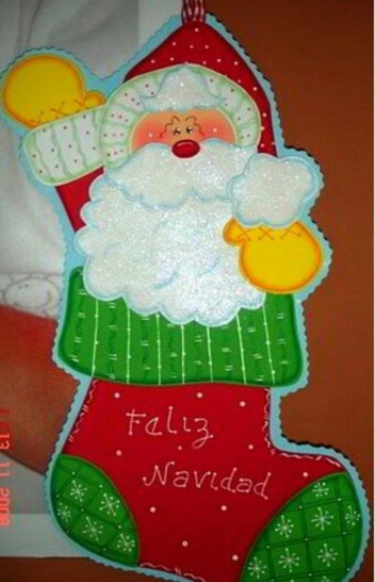 Bellos adornos de navidad en foami bs 100 00 en mercado - Adornos navidenos de goma eva ...