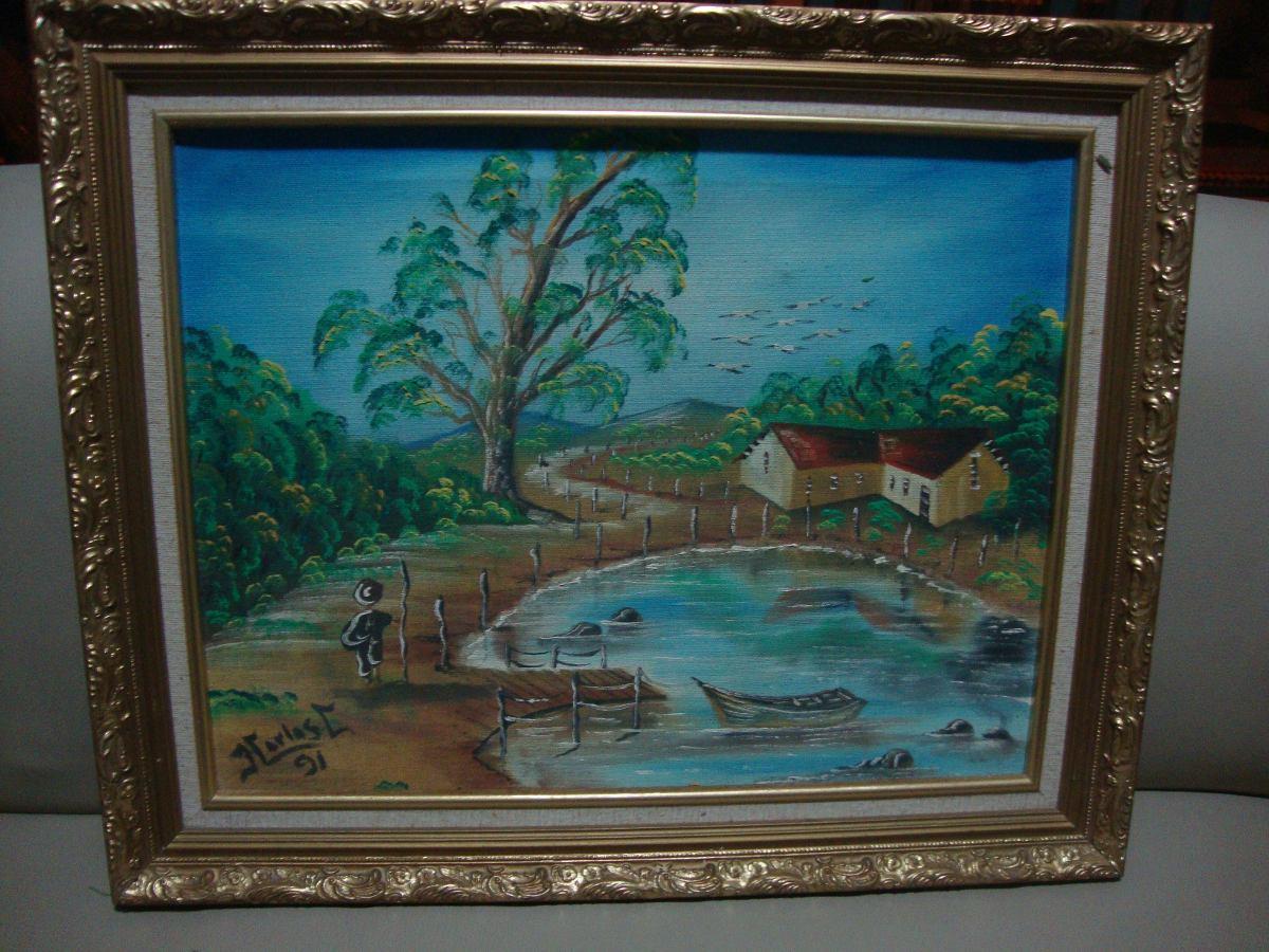 Bellos cuadros modernos pintados al oleo bs for Cuadros de oleo modernos