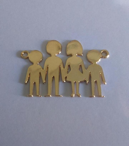 bellos dijes mi familia mamá papá e hijos(as)gold f.