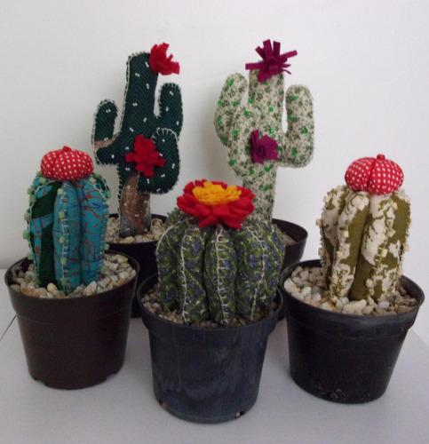 bellos mini jardines de tela hechos a mano para el feng shui