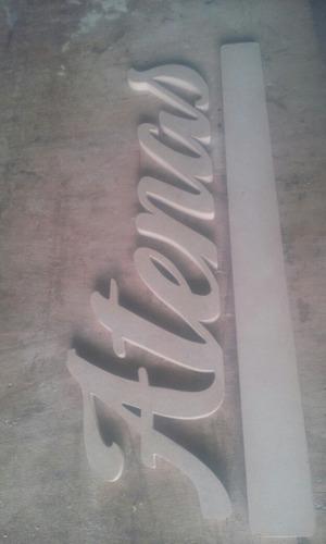 bellos nombres en letra corridas de 10cms elaborados en mdf