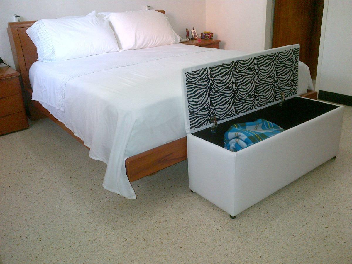 Bellos puff pie de cama tipo baul tapizados en bipiel bs for Tipos de cama