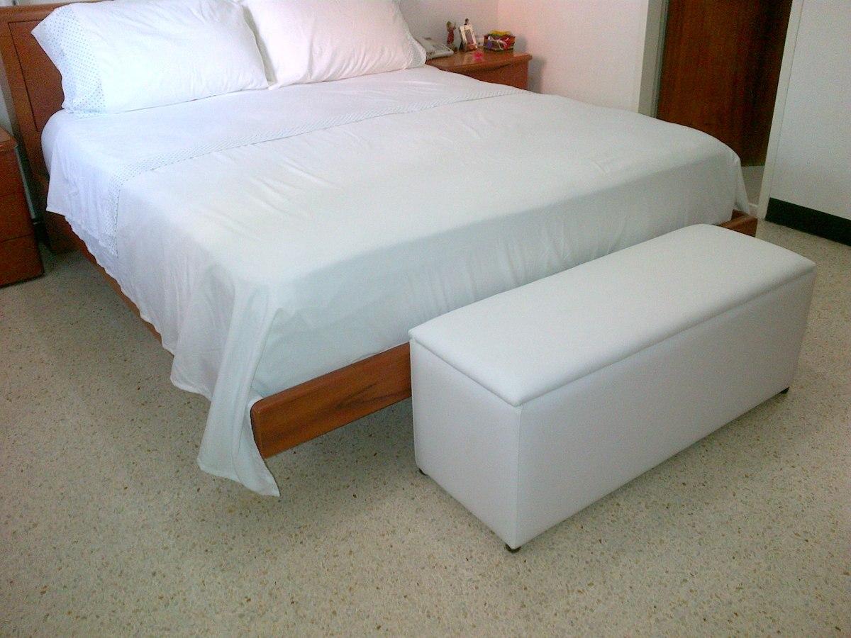 Bellos puff pie de cama tipo baul tapizados en bipiel bs - Baul madera barato ...