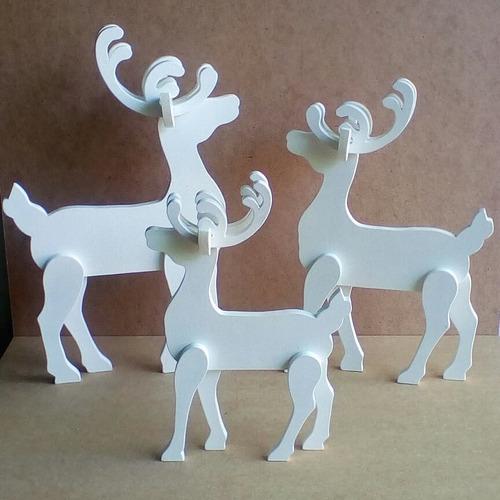 bellos renos en 3d, elaborados en mdf, 3 tamaños diferentes