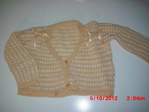 bellos sweaters tejidos a mano para bebe vac13