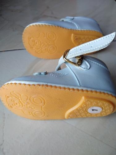 bellos zapatos blancos bautizo para niñas talla 17  ref#5$