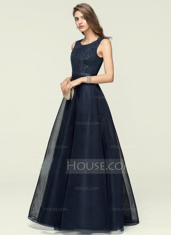 2359184a5 belo vestido longo em cetim c/ tule aplique rendado ,chic. Carregando zoom.