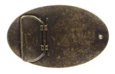 beltiscool árbol flor ovalado grabado latón cinturón hebilla
