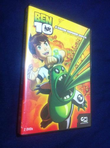 ben 10  a terceira temporada completa - 2 dvds