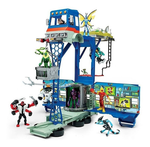 ben 10  play set deluxe rustbucket vehículo transformer