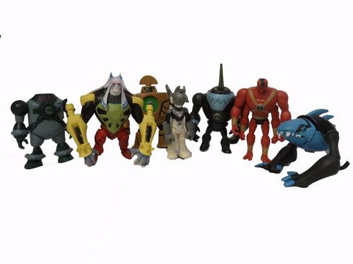 ben 10 set de 8 muñecos incluye a cuatro brazos