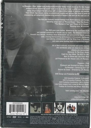 ben harper : pleasure + pain - dvd lacrado