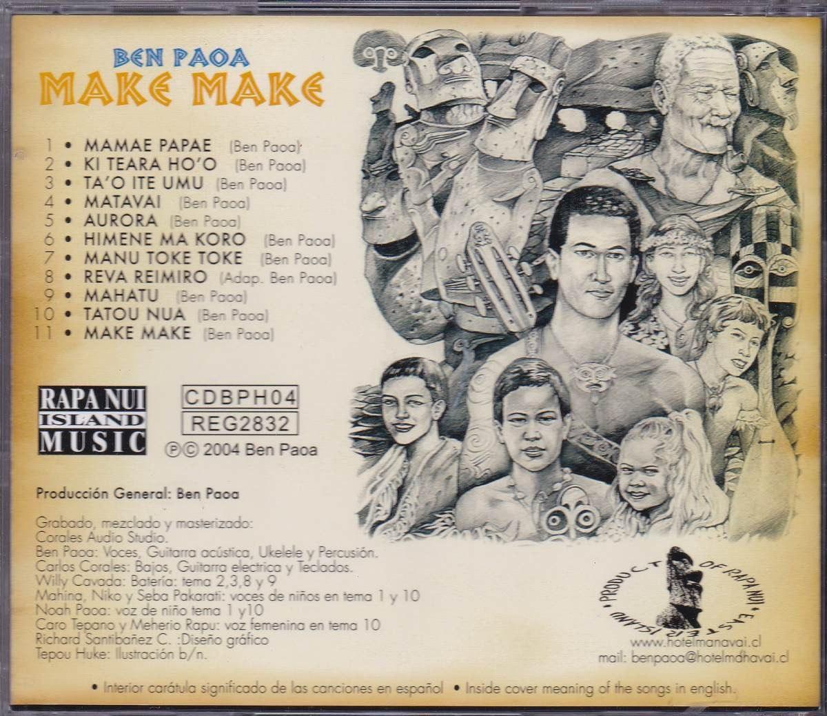 Ben Paoa - Cd Make Make - 2004 - Importado