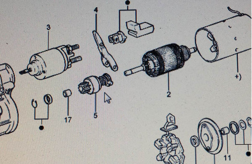 bendix de motor de arranque ford festiva automatico