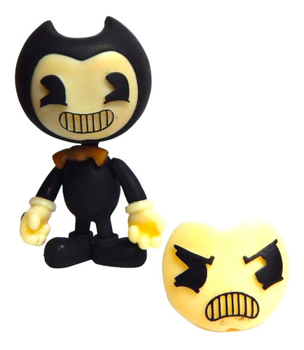 bendy and the ink machine figura cara intercambiable luz led