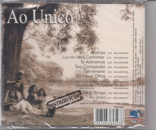 bené gomes - ao único - raridade - cd - mk original