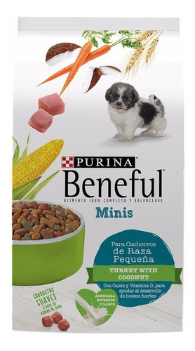 beneful alimento para perro cachorro minis 4 kg
