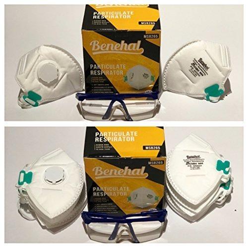 Benehal Gafas Para Con Mask Seguridad N95 De 3m Dust