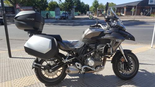 benelli trk 502 touring shad agrobikes - linea anterior
