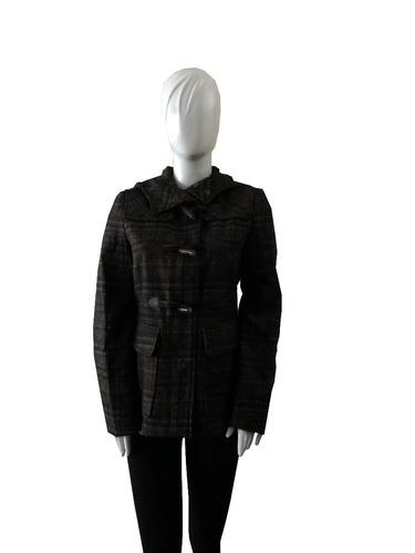 benetton casaca talla 42 color negro con plomo y marrón