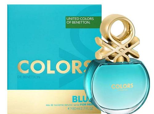 benetton colors blue  mujer eau de toilette 80ml original