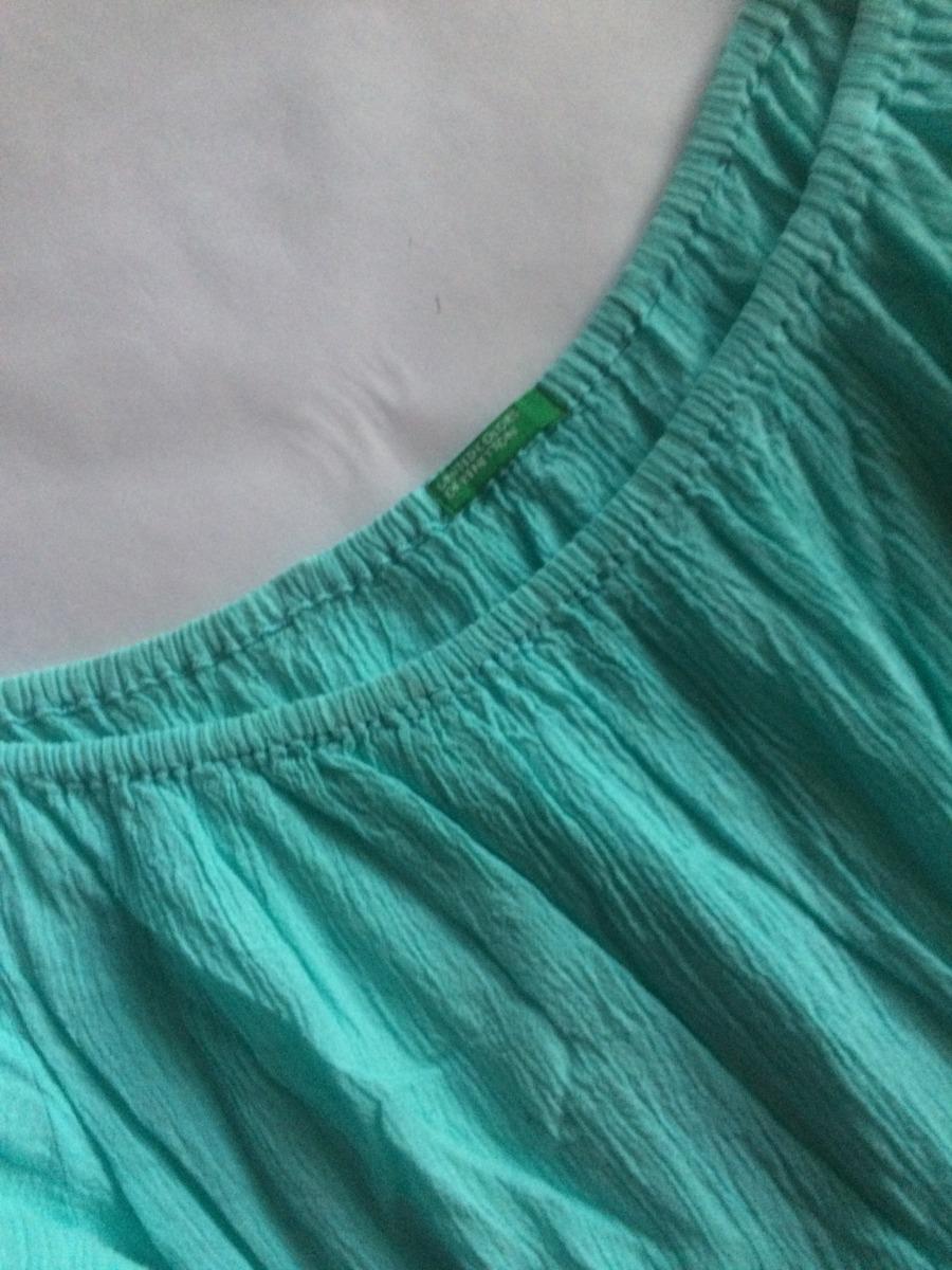 0c54e3cd0 benetton.blusa importada tela corrugada. Cargando zoom.