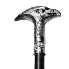 bengala com espada cajado cabeça de águia, 92cm