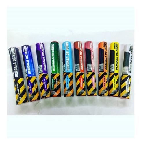 bengala de humo cienfuegos negro fucsia 10 colores distintos