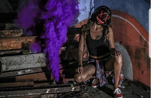 bengala de humo de colores