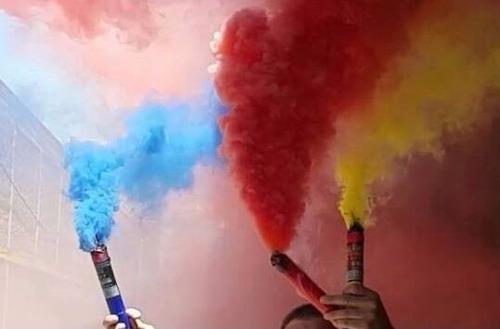 bengalas de humo x6 varios colores