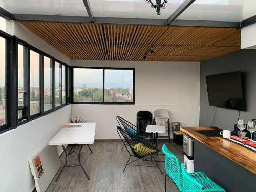 benito juárez, hermoso ph exterior con roof garden