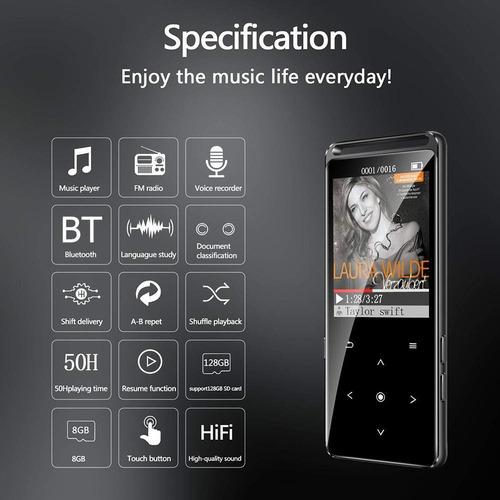benjie m6 reproductor mp3 16gb hifi walkman fm radio de