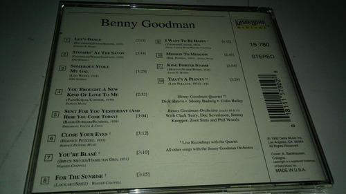benny goodman lets dance cd import