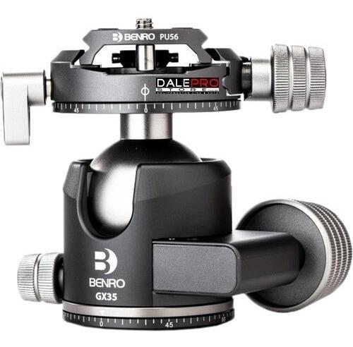 benro gx35 cabeça ball head p/ 35kg c/ panorâmico duplo pan