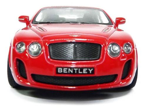 bentley continental 2010 conversivel vermelho kinsmart 1 38
