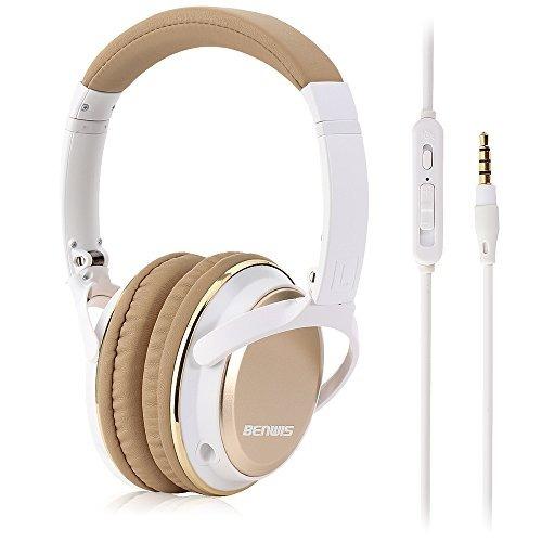 benwis con cable auriculares con micrófono, auriculares