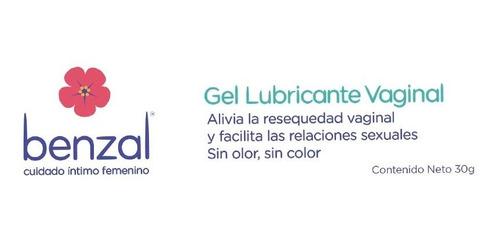 benzal gel lubricante vaginal 30gr