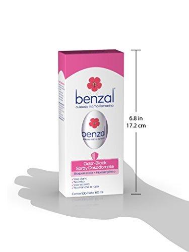 benzal spray desodorante hipo alergénico odor block, 60 ml