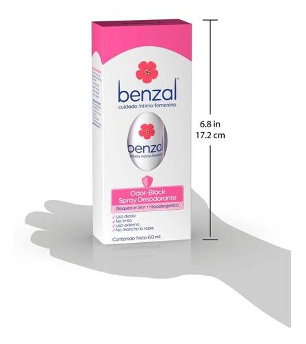 benzal spray desodorante hipoalergénico odor block 60ml