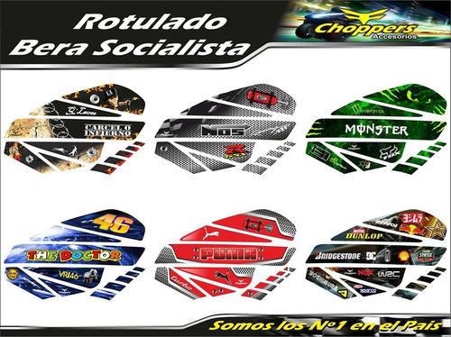 bera socialista kit rotulado moto calcomania