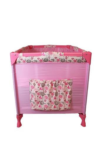 berço cercado cercadinho portátil desmontável eco - rosa