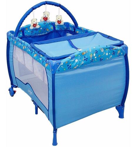 berço cercado plus azul oceano baby style